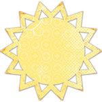 Deja Views - C-Thru - Little Yellow Bicycle - Boardwalk Collection - 12 x 12 Decorative Edge Paper