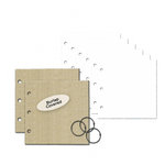 Little Yellow Bicycle - Burlap Covered Chipboard Album