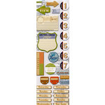 Deja Views -Traveler Collection - Chipboard Stickers - Voyages, CLEARANCE