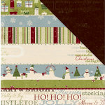 Deja Views - C-Thru - Little Yellow Bicycle - Christmas Delight Collection - 12 x 12 Double Sided Paper - Merry and Bright, CLEARANCE