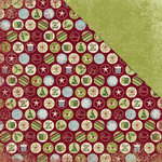 Deja Views - C-Thru - Little Yellow Bicycle - Christmas Delight Collection - 12 x 12 Double Sided Paper - Delightful Dots