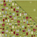 Deja Views - C-Thru - Little Yellow Bicycle - Christmas Delight Collection - 12 x 12 Double Sided Paper - All Wrapped Up