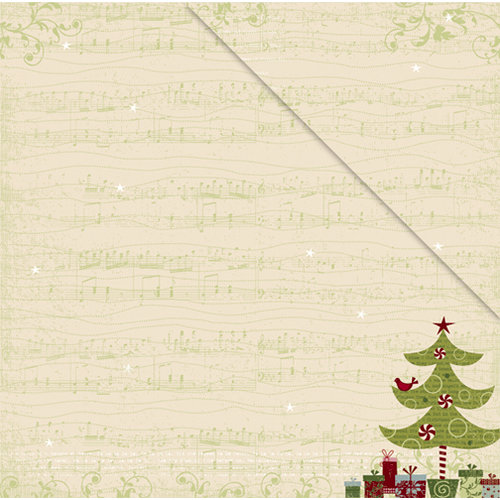 Deja Views - C-Thru - Little Yellow Bicycle - Christmas Delight Collection - 12 x 12 Double Sided Paper - Christmas Morning