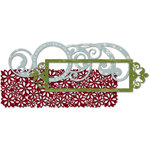 Deja Views - C-Thru - Little Yellow Bicycle - Christmas Delight Collection - 4 x 12 Lace-Cut Paper with Glitter Accents, CLEARANCE