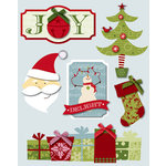Deja Views - C-Thru - Little Yellow Bicycle - Christmas Delight Collection - 3 Dimensional Stickers with Glitter Accents