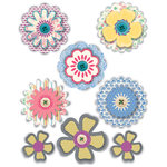 Deja Views - C-Thru - Little Yellow Bicycle - Clothesline Collection - 3 Dimensional Stickers with Button Accents, CLEARANCE