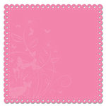 Deja Views - C-Thru - Little Yellow Bicycle - The Delightful Collection by Sharon Ann - 12x12 Decorative Edge Cardstock - Pink, CLEARANCE