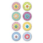 Deja Views - C-Thru - Little Yellow Bicycle - Elizabeth Park Collection - Flower Button Dots