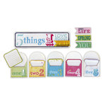 Deja Views - C-Thru - Little Yellow Bicycle - Elizabeth Park Collection - 5 Things Envelopes with Embossed Accents, CLEARANCE