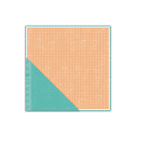 Little Yellow Bicycle - Escape Collection - 12 x 12 Double Sided Textured Paper - Carefree - Orange