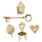 Little Yellow Bicycle - Feels Like Home Collection - Wood Shapes