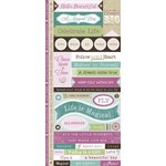 Little Yellow Bicycle - Fern and Forest Girl Collection - Cardstock Stickers with Debossed and Glitter Accents - Fresh Verse