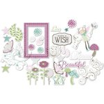 Little Yellow Bicycle - Fern and Forest Girl Collection - Die Cut Acetate Pieces with Glitter Accents