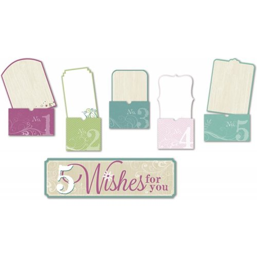 Little Yellow Bicycle - Fern and Forest Girl Collection - 5 Things Envelopes with Embossed Accents