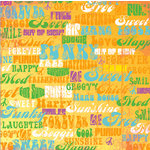 Deja Views - C-Thru - Little Yellow Bicycle - Free Spirit Collection - 12 x 12 Paper with Glossy Accents - Words