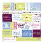 Deja Views - 12x12 Cardstock Stickers - Fresh Verse - Pear - Bloom, CLEARANCE