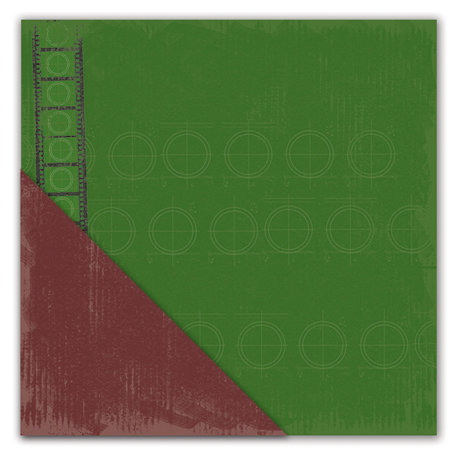 Deja Views - C-Thru - Little Yellow Bicycle - Get Your Game One Collection - 12 x 12 Double Sided Textured Paper - Playing Field Green