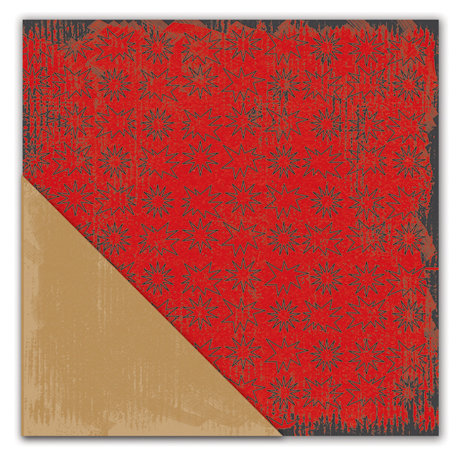 Deja Views - C-Thru - Little Yellow Bicycle - Get Your Game One Collection - 12 x 12 Double Sided Textured Paper - All Star Red