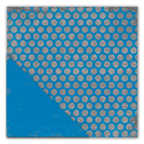 Deja Views - C-Thru - Little Yellow Bicycle - Head of the Class Collection - 12 x 12 Double Sided Textured Paper - Blue Dot to Dot
