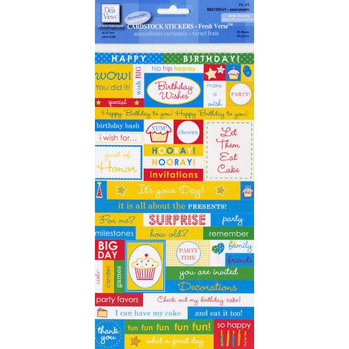 Deja Views - C-Thru - Little Yellow Bicycle - Cardstock Stickers - Fresh Verse - Birthday