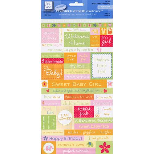 Deja Views - C-Thru - Little Yellow Bicycle - Cardstock Stickers - Fresh Verse - Baby Girl