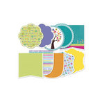 Deja Views - C-Thru - Little Yellow Bicycle - Hello Spring Collection - Double Sided Decorative Edge Cardstock Pack with Glitter Accents - 6 x 6