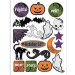 Deja Views - C-Thru - Little Yellow Bicycle - Frightful Collection - Halloween - Epoxy Stickers - Words and Icons, CLEARANCE