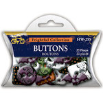 Deja Views - C-Thru - Little Yellow Bicycle - Frightful Collection - Halloween - Acrylic Buttons, CLEARANCE