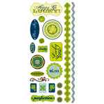 Deja Views - C-Thru - Little Yellow Bicycle - Lucky Me Collection - Clear Stickers with Foil Accents, CLEARANCE