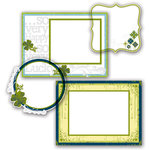 Deja Views - C-Thru - Little Yellow Bicycle - Lucky Me Collection - Clear Cuts - Frames with Foil Accents, CLEARANCE