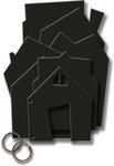 Deja Views - C-Thru - Little Yellow Bicycle - Booville Collection - Halloween - Chipboard Album - House
