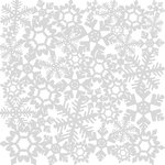 Deja Views - Little Yellow Bicycle - The Sharon Ann Christmas Magic Collection - 12 x 12 Lace Paper - Christmas Snowflake, BRAND NEW