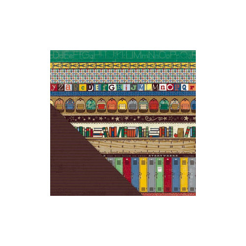 Little Yellow Bicycle - Makin' the Grade Collection - 12 x 12 Double Sided Paper - School Bands