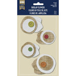 Naturals Collection - Burlap Stickers with Button Accents - Posy by Little Yellow Bicycle