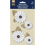 Little Yellow Bicycle - Naturals Collection - Burlap Stickers with Button Accents - Daisy