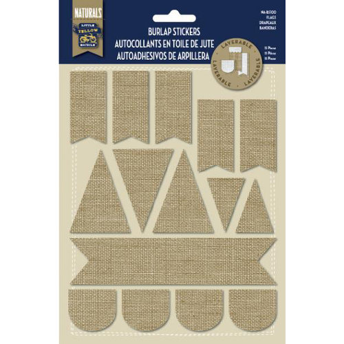 Little Yellow Bicycle - Naturals Collection - Burlap Stickers - Flags