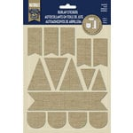 Naturals Collection - Burlap Stickers - Flags by Little Yellow Bicycle