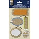 Little Yellow Bicycle - Naturals Collection - Burlap Stickers - Tags