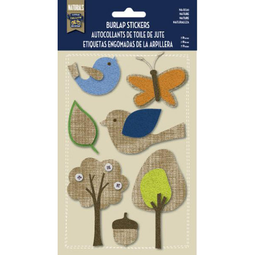 Little Yellow Bicycle - Naturals Collection - Burlap Stickers - Nature