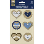Little Yellow Bicycle - Naturals Collection - Burlap Stickers - Hearts