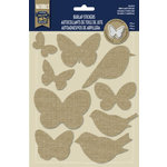 Little Yellow Bicycle - Naturals Collection - Burlap Stickers - Birds and Butterflies