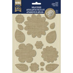 Little Yellow Bicycle - Naturals Collection - Burlap Stickers - Flowers and Leaves