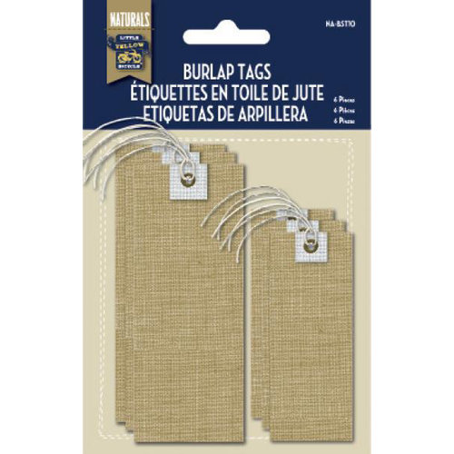 Little Yellow Bicycle - Naturals Collection - Burlap Tags