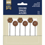 Little Yellow Bicycle - Naturals Collection - Stick Pins - Wood Buttons