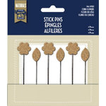 Little Yellow Bicycle - Naturals Collection - Stick Pins - Cork Flowers
