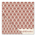 Little Yellow Bicycle - Once Upon a Christmas Collection - 12 x 12 Double Sided Paper - Merry Christmas Damask