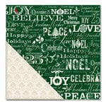 Little Yellow Bicycle - Once Upon a Christmas Collection - 12 x 12 Double Sided Paper - Christmas Greetings