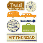Deja Views - C Thru - Little Yellow Bicycle - Pack Your Bags Collection - Canvas Stickers, CLEARANCE
