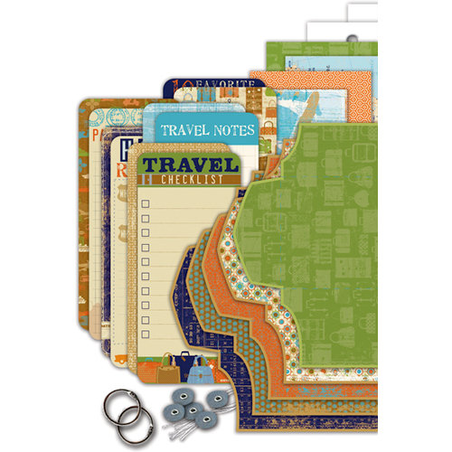 Deja Views - C Thru - Little Yellow Bicycle - Pack Your Bags Collection - Envelope Album Kit, CLEARANCE