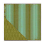 Deja Views - C-Thru - Little Yellow Bicycle - Paradise Collection - 12 x 12 Double Sided Textured Paper - Splendid Stripe